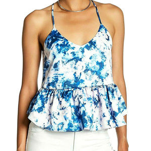 'Ro & De' Tie-Dye Sleeveless Peplum Top - NWT!